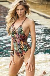 swimwear,colombianswim,colombian,one piece swimsuit,monokini,tribal pattern,colorful,luxury,cheeky