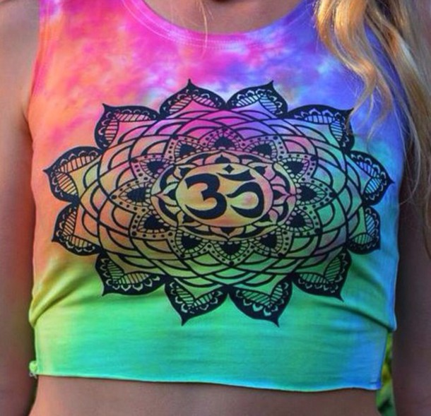 tank top t-shirt sweater colorful grunge wishlist cute indie boho chic top tank top mandala