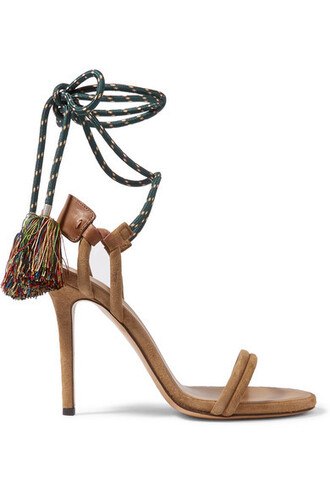 shoes ankle tie sandals high heel sandals isabel marant strappy heels