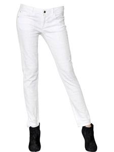 Stretch ankle skinny fit denim jeans