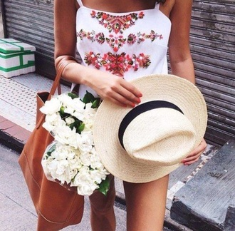 romper white flowers embellished