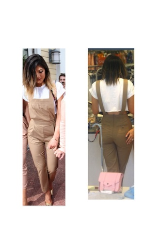 dress kylie jenner overalls kardashians style romper beige nude summer canada fashion