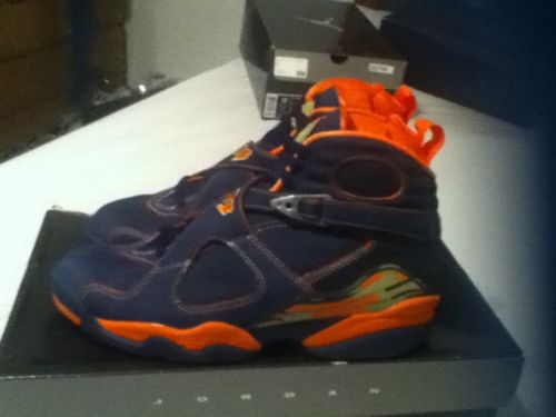 Nike Air Jordan 8 VIII Retro LS 2007 Pea Pods Navy Orange | eBay