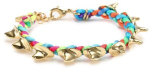 Amazon.com: Ettika Shark Fin Braided Neon Multi-Blend Satin Cord Bracelet: Jewelry