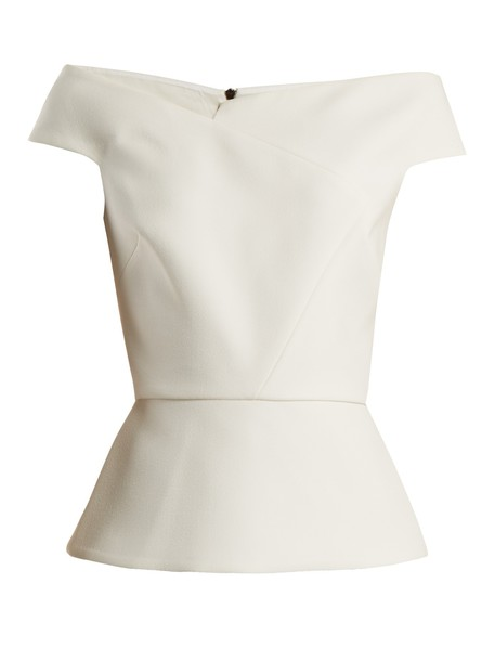 Roland Mouret top white
