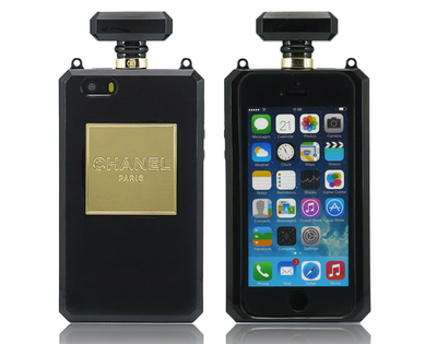 Iphone 5/5s chanel n5 perfume inspired case [black]