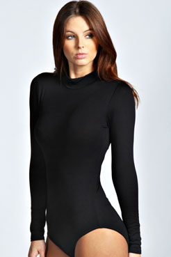 Eva High Neck Long Sleeve Bodysuit at boohoo.com