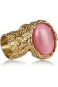 Yves Saint Laurent Arty gold-plated glass ring - 60% Off Now at THE OUTNET
