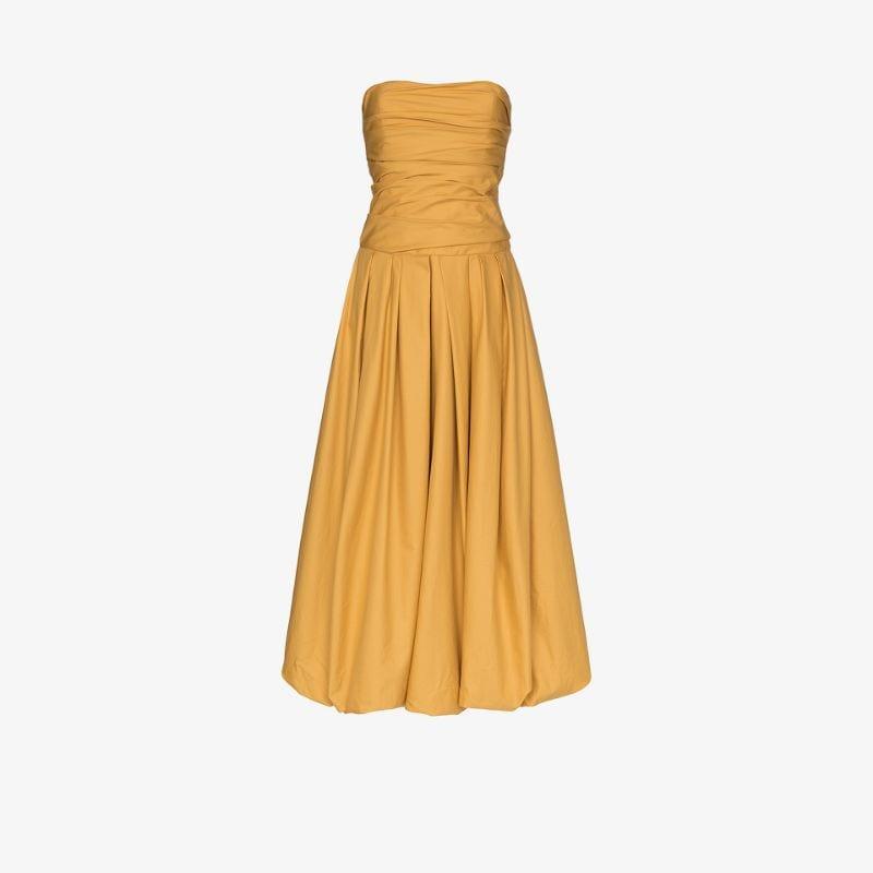 Khaite strapless flared dress