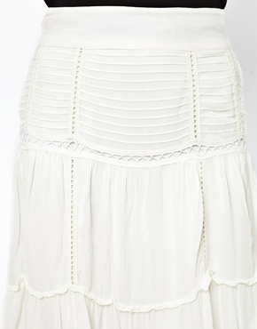 River Island | River Island Crochet Midi Skirt at ASOS