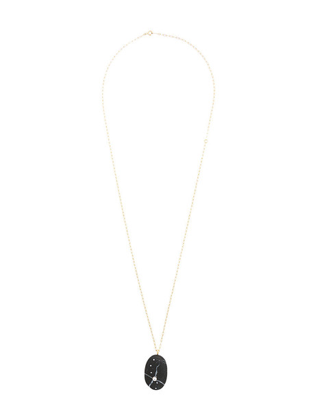 women necklace gold black yellow jewels