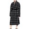 Oversized checked wool long coat