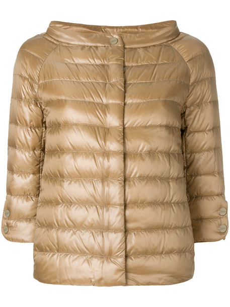 Herno jacket women cotton brown