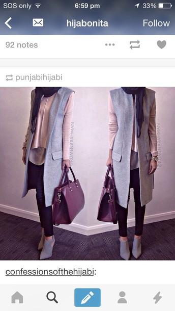 jacket cardigan gilet blouse grey cardigan vest grey long vest wool vest top