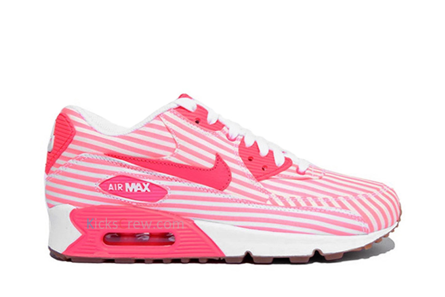 Nike Wmns Air Max 90 Hot Punch White (325213-604) - Order and buy it now from Kicks-Crew online