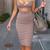 Bandage Bodycon Dress Disheefashion