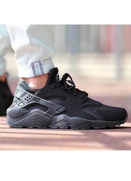 shoes nike air huarache triple black black/grey
