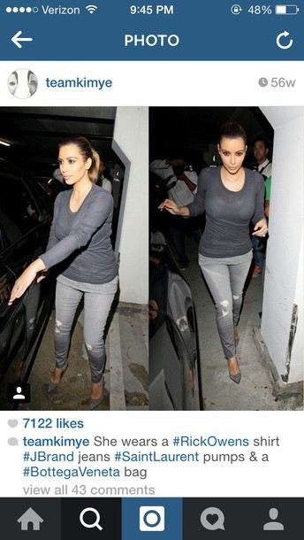 kim kardashian grey sweater