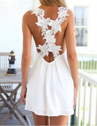 dress white summer girly pretty