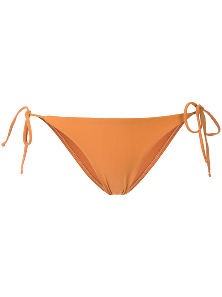 bikini women spandex yellow orange swimwear