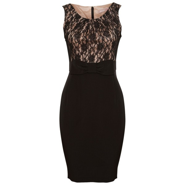 A|Wear Black Lace Cliona Bow Dress - Polyvore