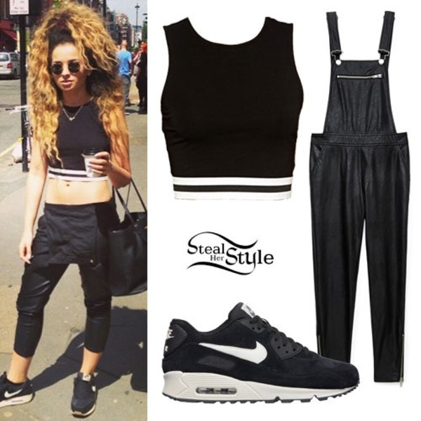 shirt crop tops forever 21 leather overalls nike air nike air max 90 shoes bag jumpsuit
