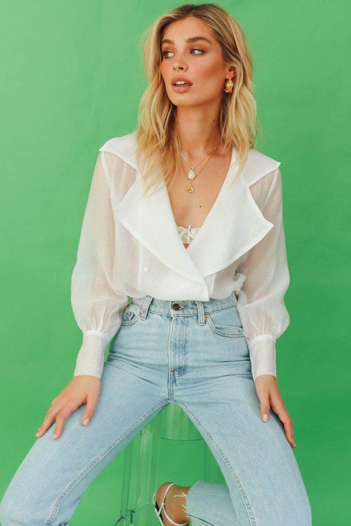 VG Coast Road Sheer Shirt // White