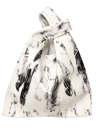 vinyl bag shoulder bag white black
