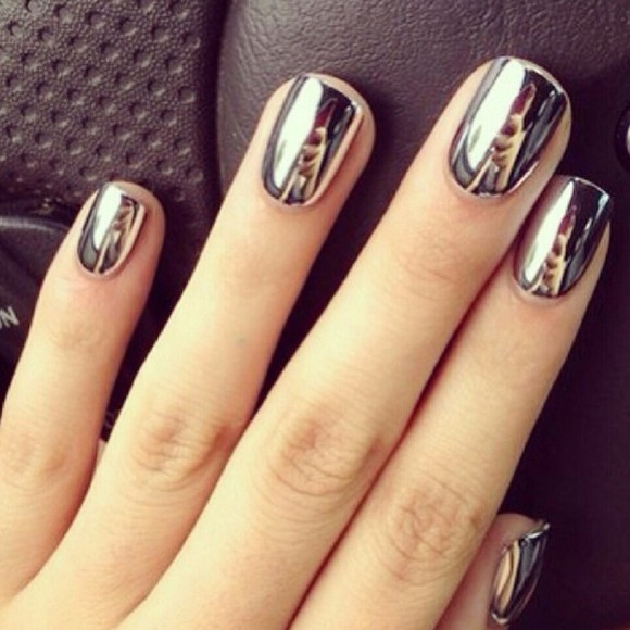 gris nail polish mirror metallic