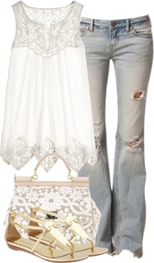 blouse,breezy,white,lace,boho,summer,shirt,top,lace top,crochet top,white top,sleeveless dress,jeans,lightwashjeans,tank top,white lace tank top,sheer top,bag,womans clothing,summer top,looking for this style,this color