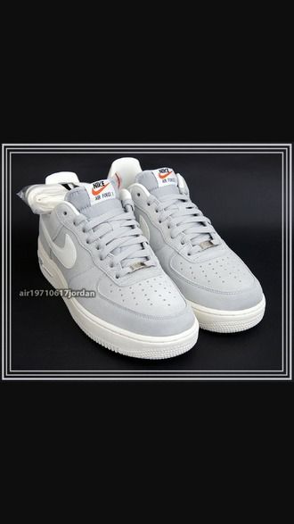 shoes air force 1 grey suede nike basket jordan street white
