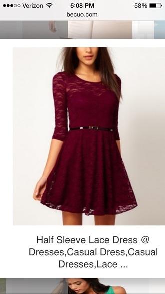 dress burundy lace burgundy dress long sleeve dress lace dress long sleeves