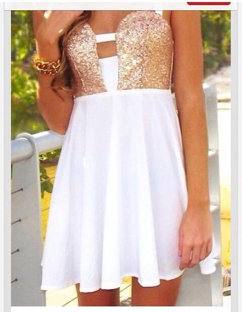 Cute golden sexy show body dress