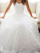 dress,wedding,lace,white,gown