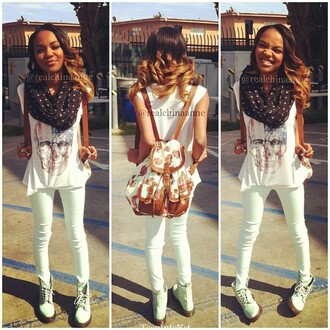 shoes china anne mcclain backpack t-shirt scarf jeans bag