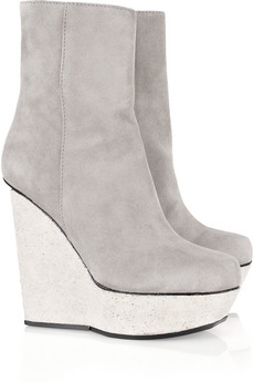 Acne hydro suede wedge boots