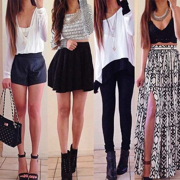 skirt shorts leggings top shoes
