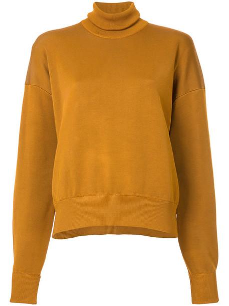 Studio Nicholson top high women high neck knit yellow orange