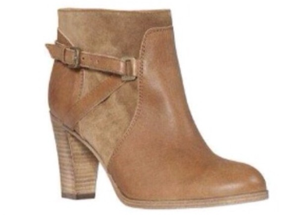 shoes boots bottines comptoir cotonniers brown leather boots brown shoes