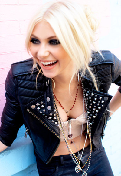 taylor momsen jacket leather blach studs studded black leather jacket gossip girl underwear leather jacket