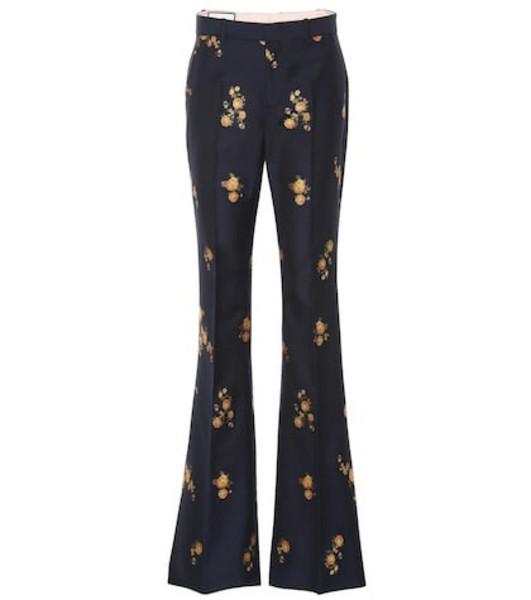 Gucci Floral fil coupé pants in blue