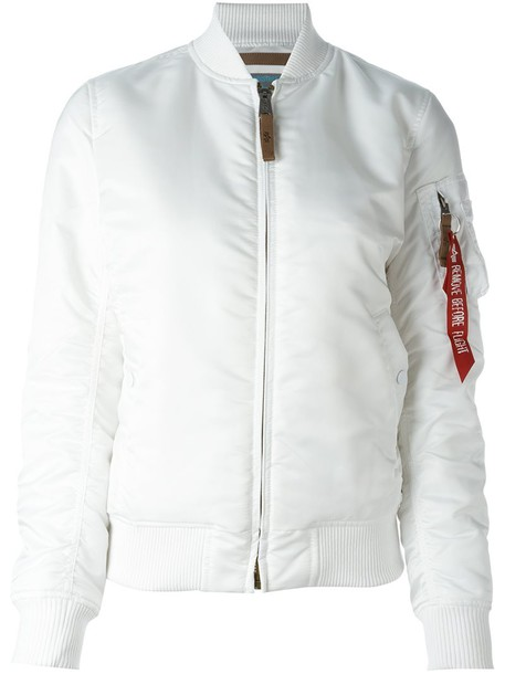 ALPHA INDUSTRIES jacket bomber jacket women white