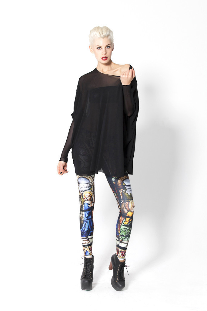 Free Shipping Black Milk Cathedral Legging for Women 2014 Fashion Women's Black Milk Girl Leggings-in Leggings from Apparel & Accessories on Aliexpress.com