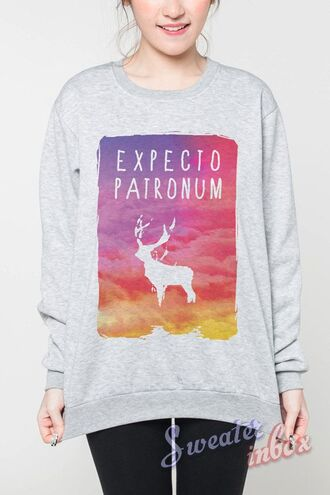 shirt harry potter sweater expecto patronum