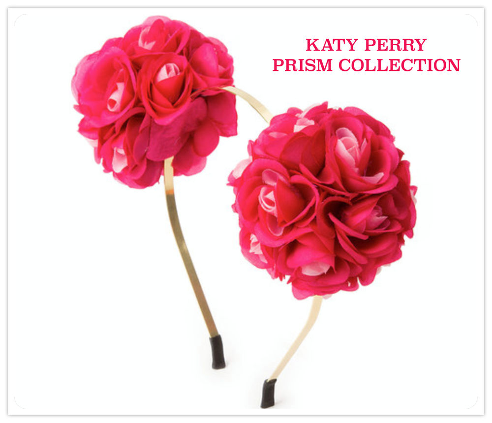 KATY PERRY DOUBLE CLUSTER FLOWER HEADBAND PINK - PRISM COLLECTION CLAIRE S  NEW! ee8a9e492c4
