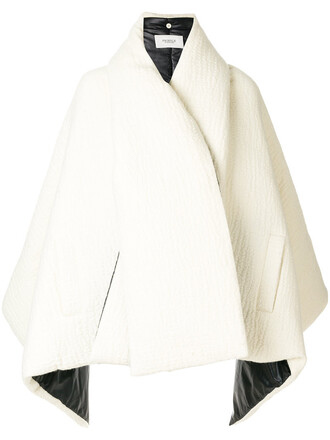 cape women white wool top
