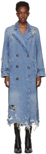coat trench coat denim