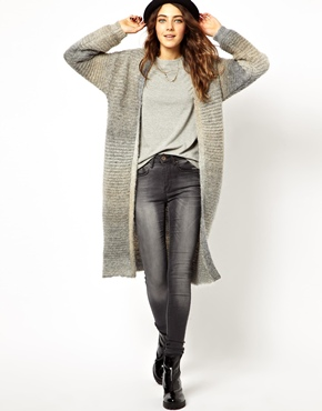 ASOS | ASOS Long Cardigan In Mohair at ASOS
