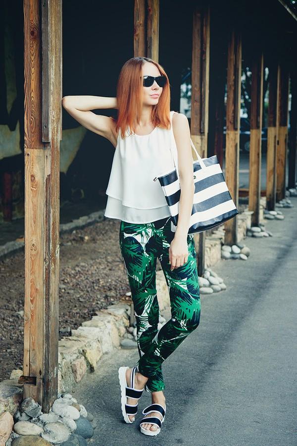 gvozdishe blogger top bag shoes sunglasses