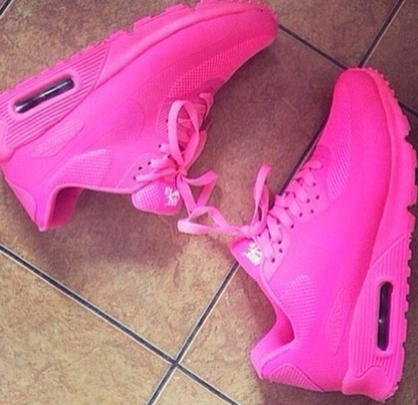 shoes hot pink nike id air max 90 air max 90 hot pink runners nike air